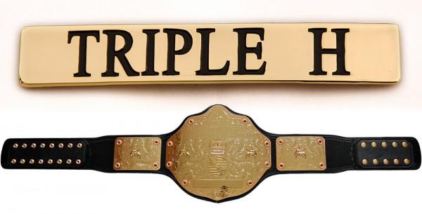 """""""Triple H"""" Namensplakette für WWE World Heavyweight Gürtel"""