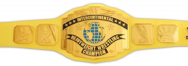 WWE / WWF INTERCONTINENTAL GELBER REPLICA GÜRTEL