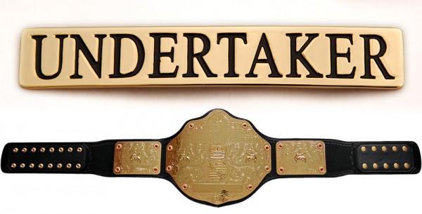 """""""Undertaker"""" Namensplakette für WWE World Heavyweight Gürtel"""